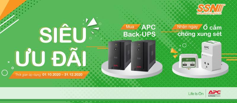 [Siêu ưu đãi] Mua APC Back-UPS tặng Ổ cắ