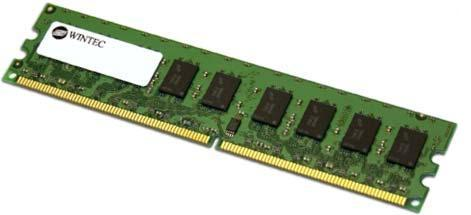 2GB DDR2-800/667 240 pin ECC Unbuffered DIMMs