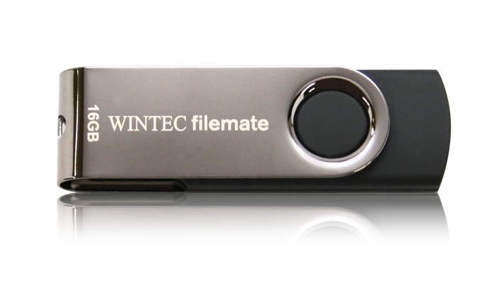 4GB Wintec FileMate SWIVEL Silver