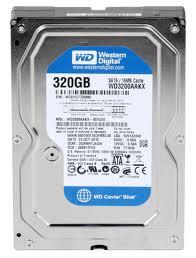 WD Caviar Blue 320 GB SATA 6Gb/s 7200RPM 16MB 3.5