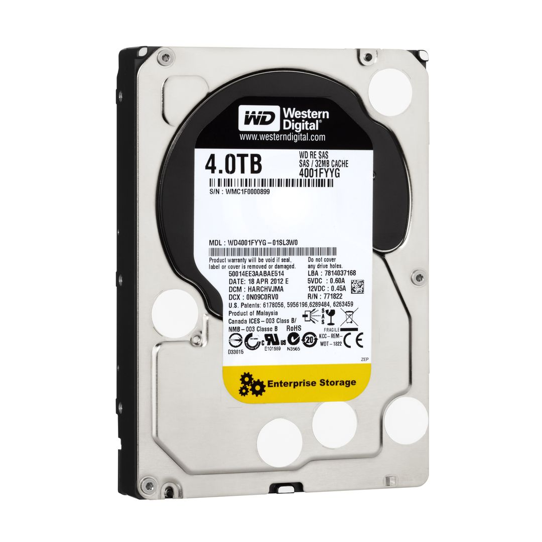 4TB Western RE Enterprise SAS 6Gb/s 7200RPM 32MB Cache 3.5 Inch