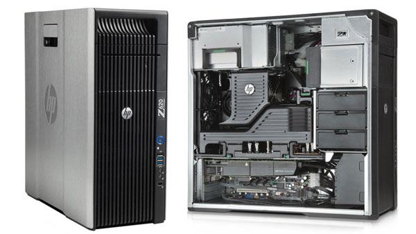 HP Z620 Workstation - E5-2609v2, 8GB, K600 quadro, 1TB hdd, Windows 7