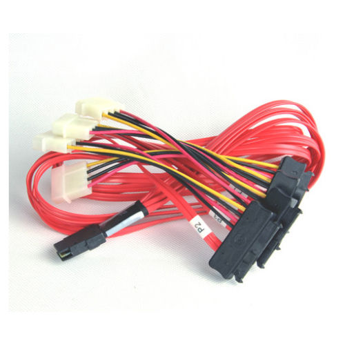 Cable SFF-8087 to SFF-8482 power x4 SAS