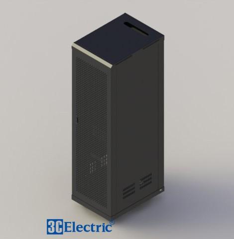 C-Rack 42U-D800 . Cánh cửa lưới- Màu đen