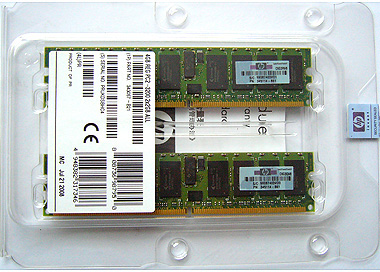 HP 4GB (2X2GB) 400MHZ PC2-3200 CL3 ECC REGISTERED DDR2 SDRAM DIMM