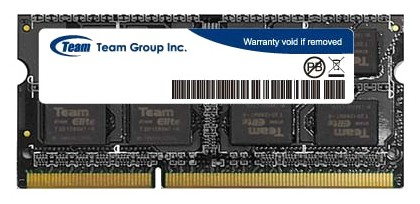 MEMORY TEAM 2GB SO-DIMM DDR3 1600 MHz