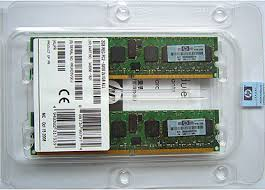HP 2GB Registered PC2-3200 2x1GB DDR2 Memory Kit