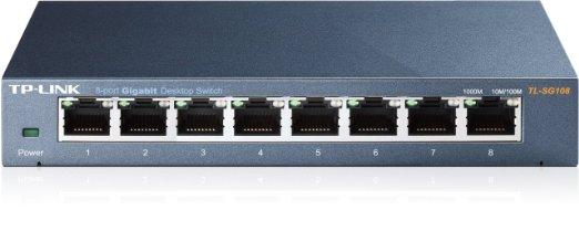Switch Gigabit Để bàn 8 cổng, 8 cổng RJ45 10/100/1000Mbps, Vỏ thép