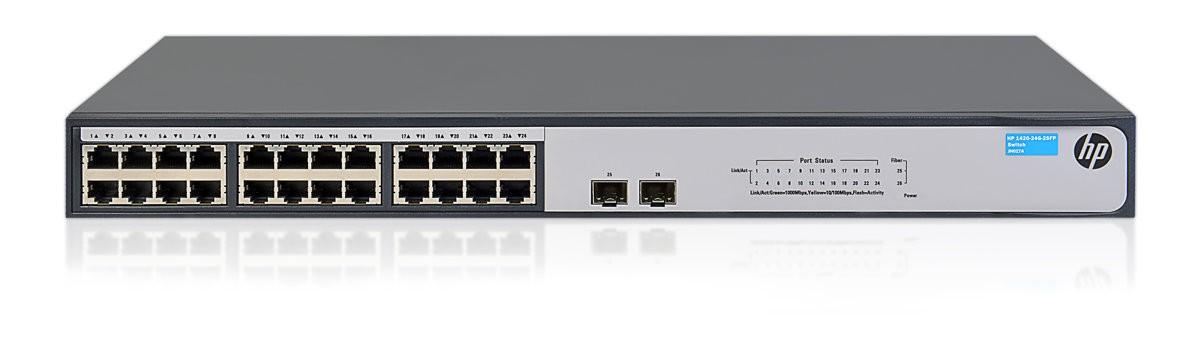 Thiết Bị Mạng Switch HP 1420-24G-2SFP+ 10G Uplink JH018A