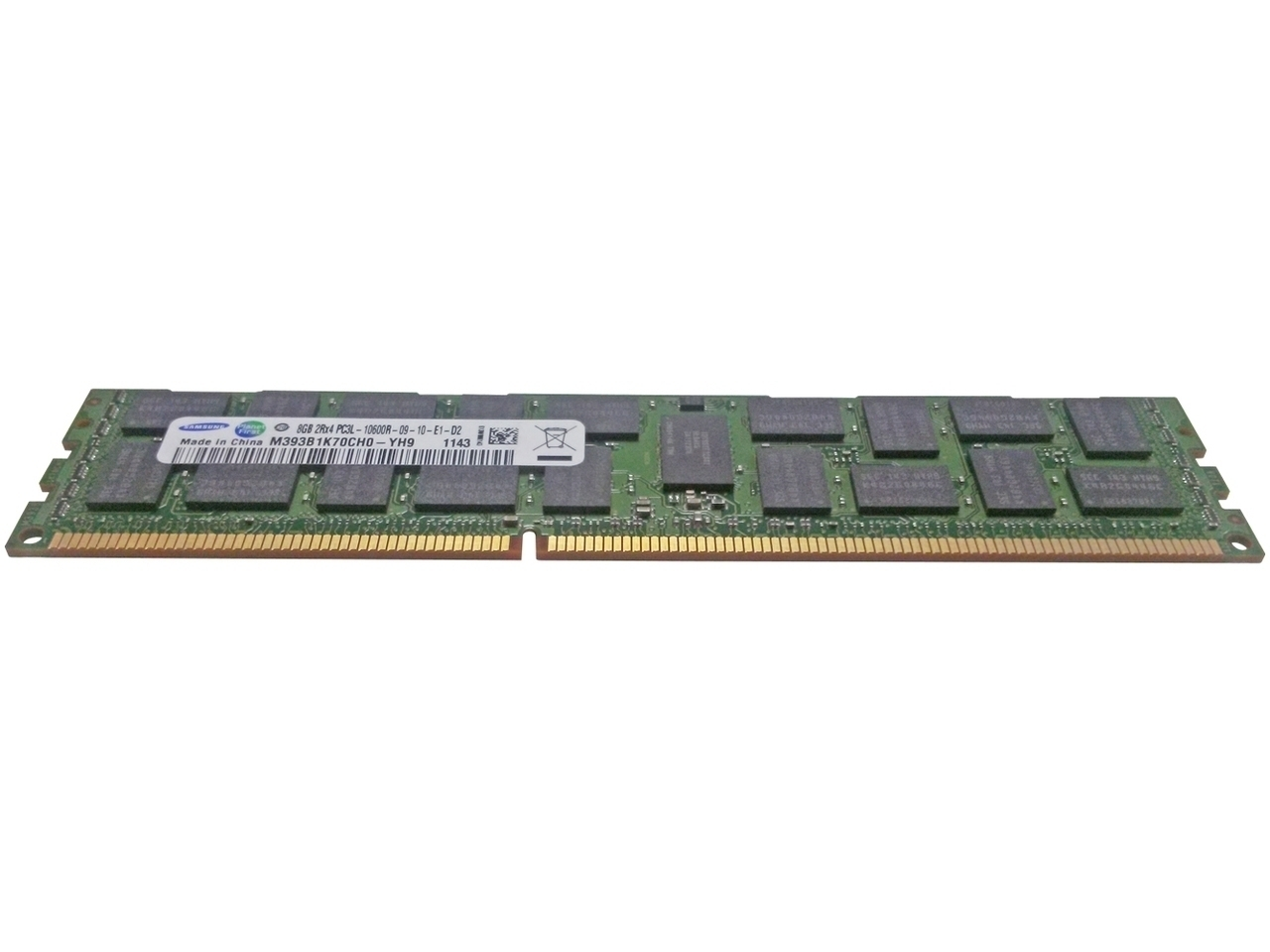 8GB (1x 8GB, 2Rx4, 1.35 V) PC3L-10600 CL9 ECC 1333 MHz LP RDIMM