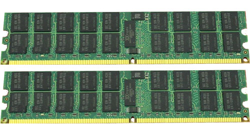 IBM 4GB (2x 2GB) 400MHz DDR2 PC2-3200 ECC Registered CL3 SDRAM DIMM Chipkill Single Rank
