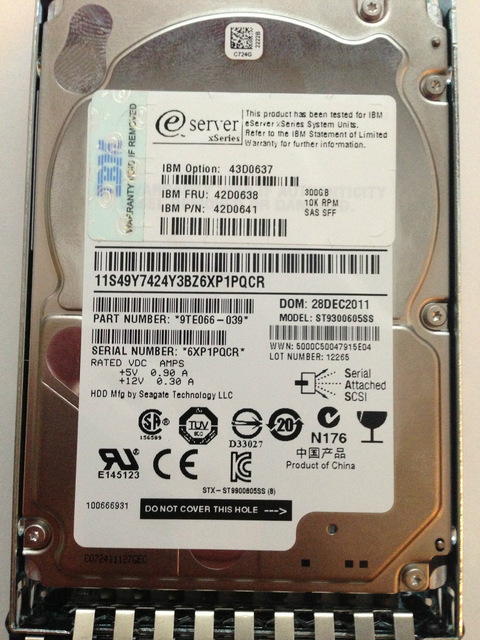 Ổ Cứng HDD IBM 300GB 2.5inch SAS 10K 6Gb/s HS Hard Drive
