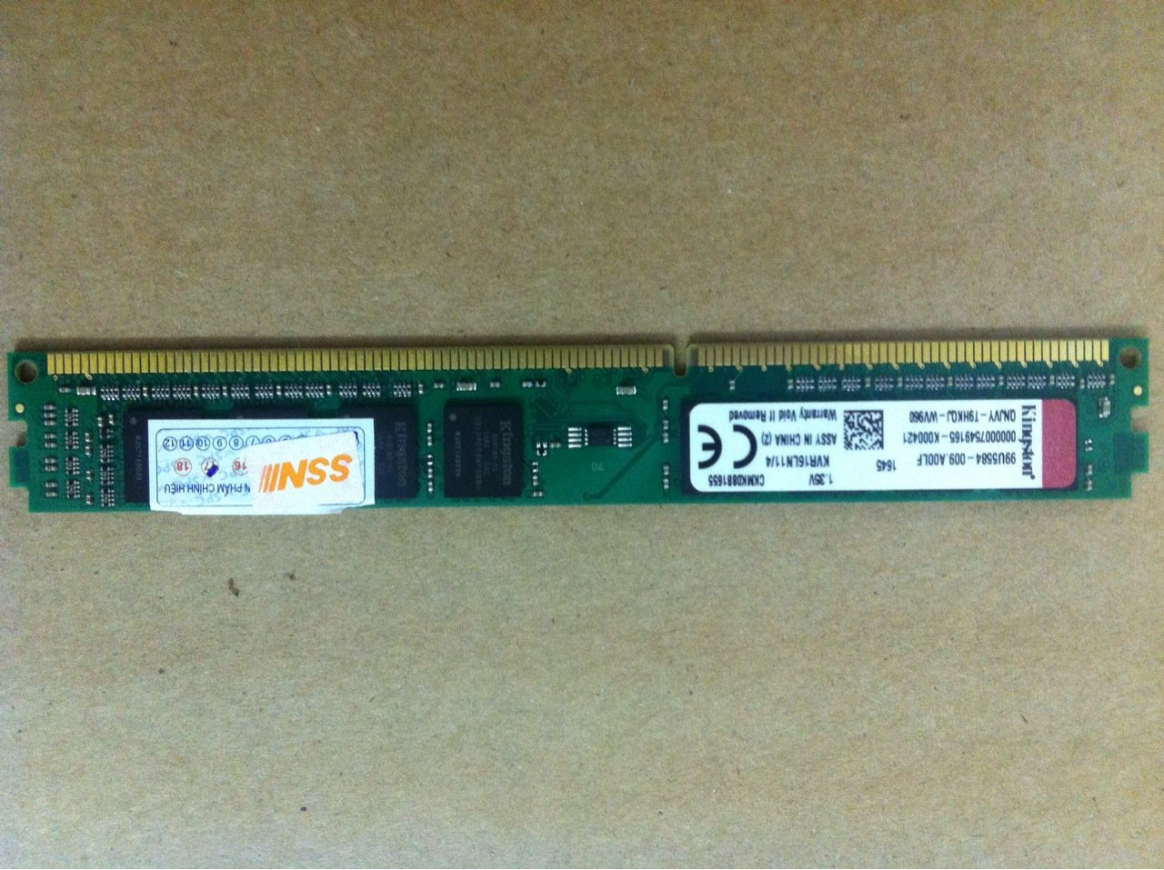 Kingston 4GB PC3L-12800 CL11 240 DIMM Desktop RAM Memory