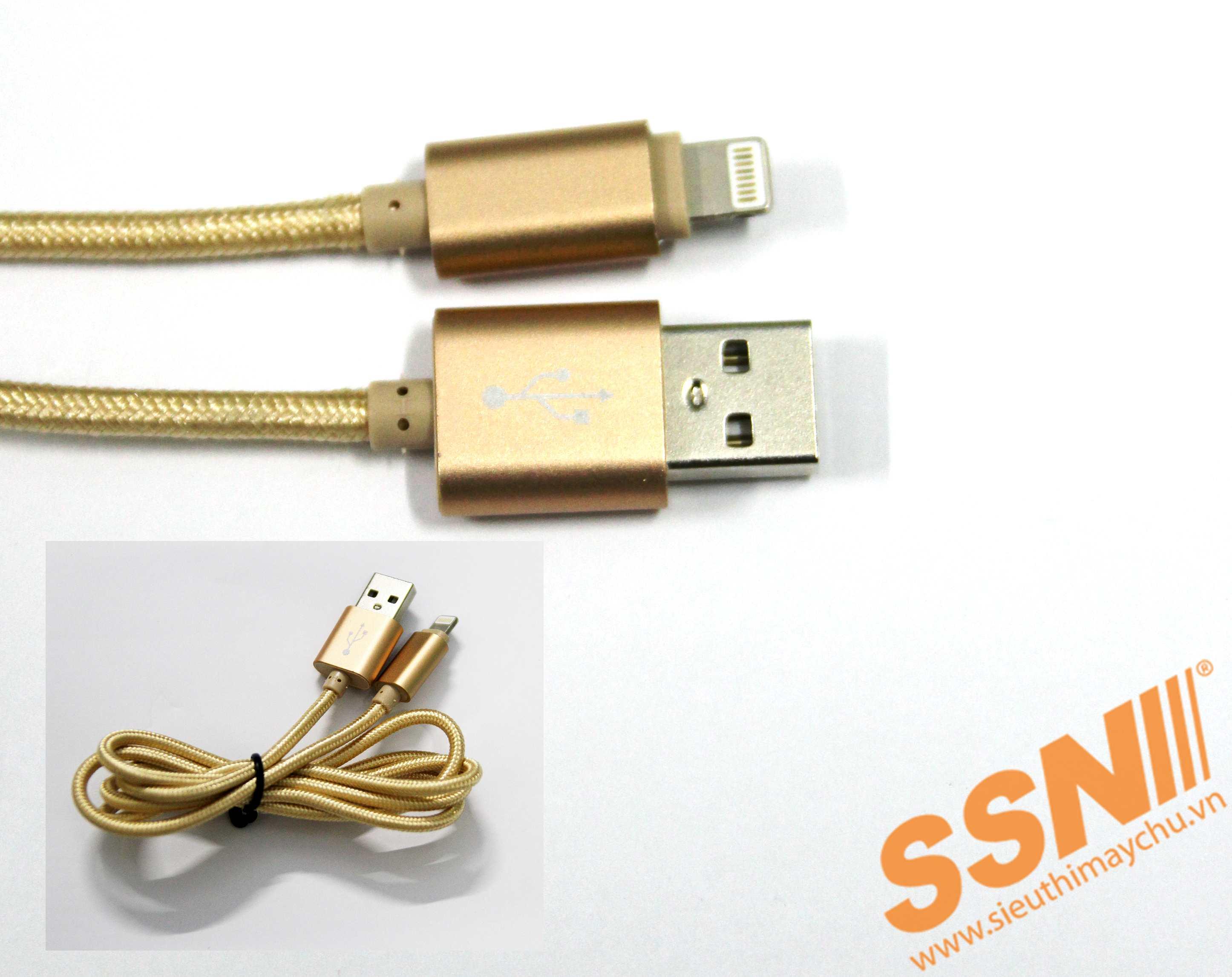 CÁP SẠC USB-LIGHTNING-VÀNG (10PCS)