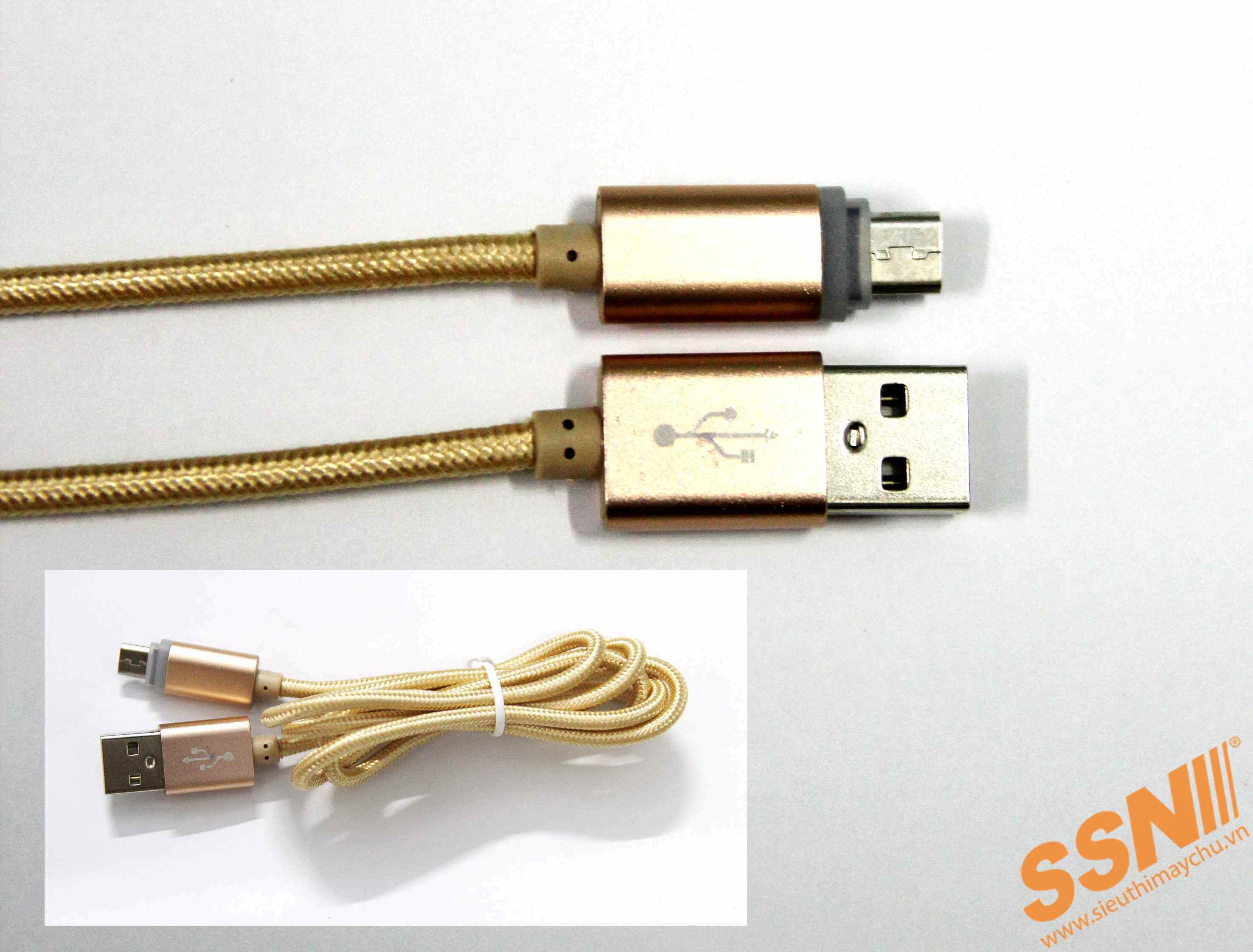 Cáp sạc Micro USB đa năng có đèn LED dạ quang (10PCS)
