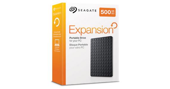 Seagate® Expansion Portable Drive 500GB