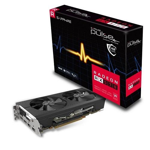 SAPPHIRE PULSE RADEON RX 580 4G GDDR5 DUAL HDMI / DVI-D / DUAL DP OC W/BP