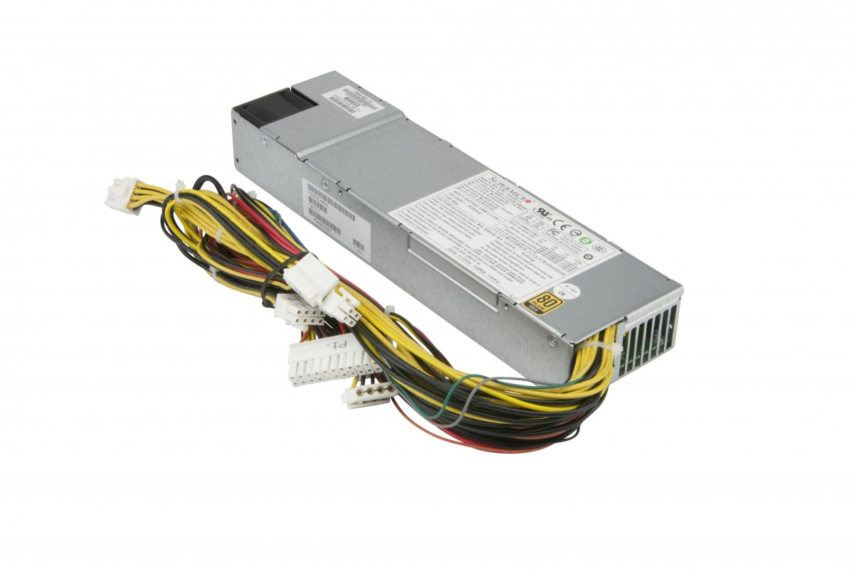 Supermicro 560W/600W 1U Multi-Output Power Supply (PWS-563-1H)