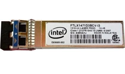 INTEL FTLX1471D3BCVI31 SFP TRANSCEIVER MODULE - 1000BASE-LX, 10GBASE-LR - PLUG-IN MODULE - 1310 NM