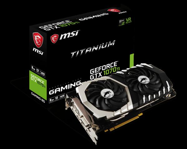 MSI GTX 1070 Ti TITANIUM 8G