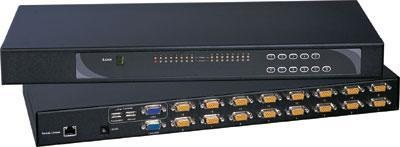 IP-1602 Cyberview Austin Hughes 16 Port combo KVM over IP Switch