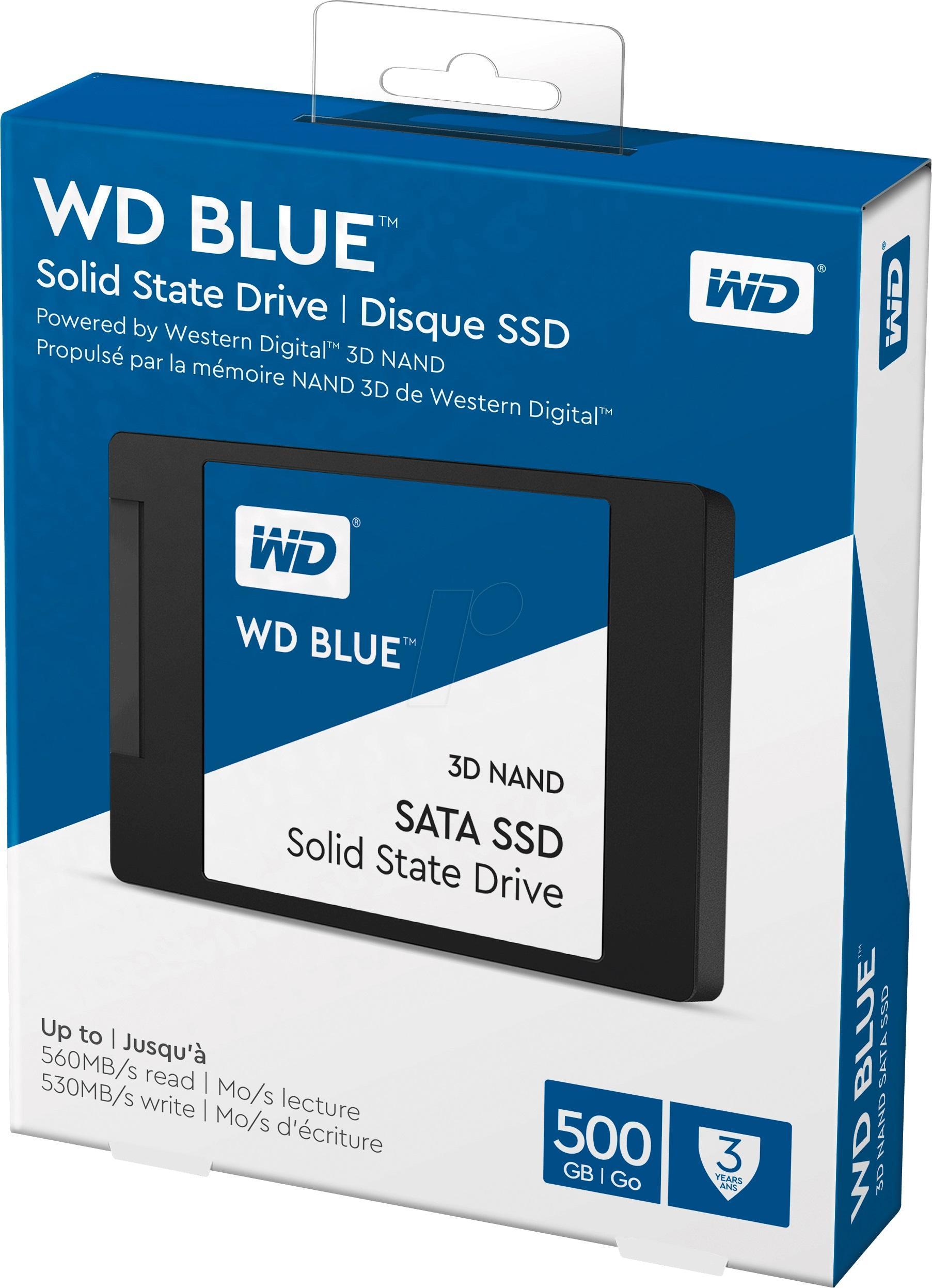 Ổ Cứng SSD Western Digital 500GB Blue 3D NAND 2.5inch SATA3