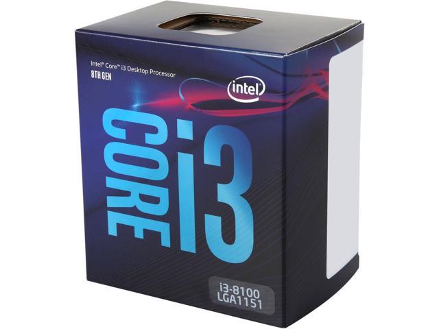 Intel® Core™ i3-8100 PROCESSOR (6M Cache, 3.60 GHz)