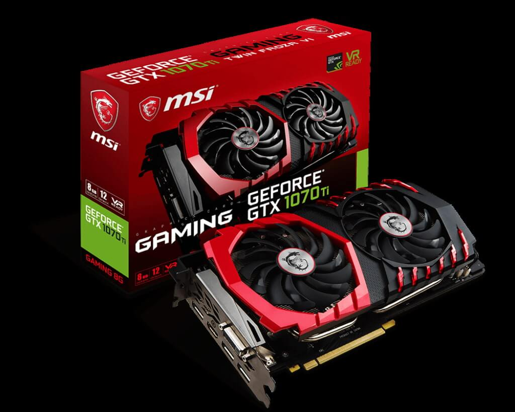 Card Màn Hình MSI Nvidia Geforce GTX 1070 Ti Gaming 8GB (256 bit) DDR5