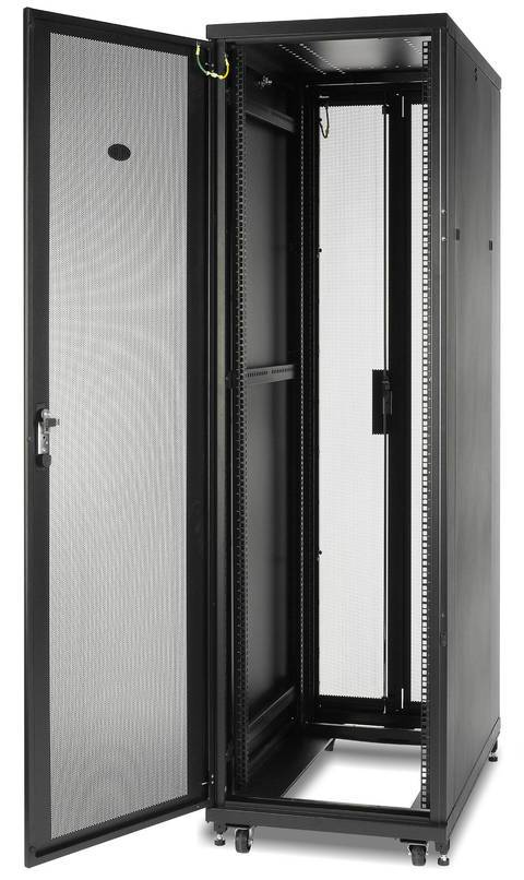 NetShelter SV 42U 600mm Wide x 1060mm Deep Enclosure with Sides, Black, Single Rack Unassembled