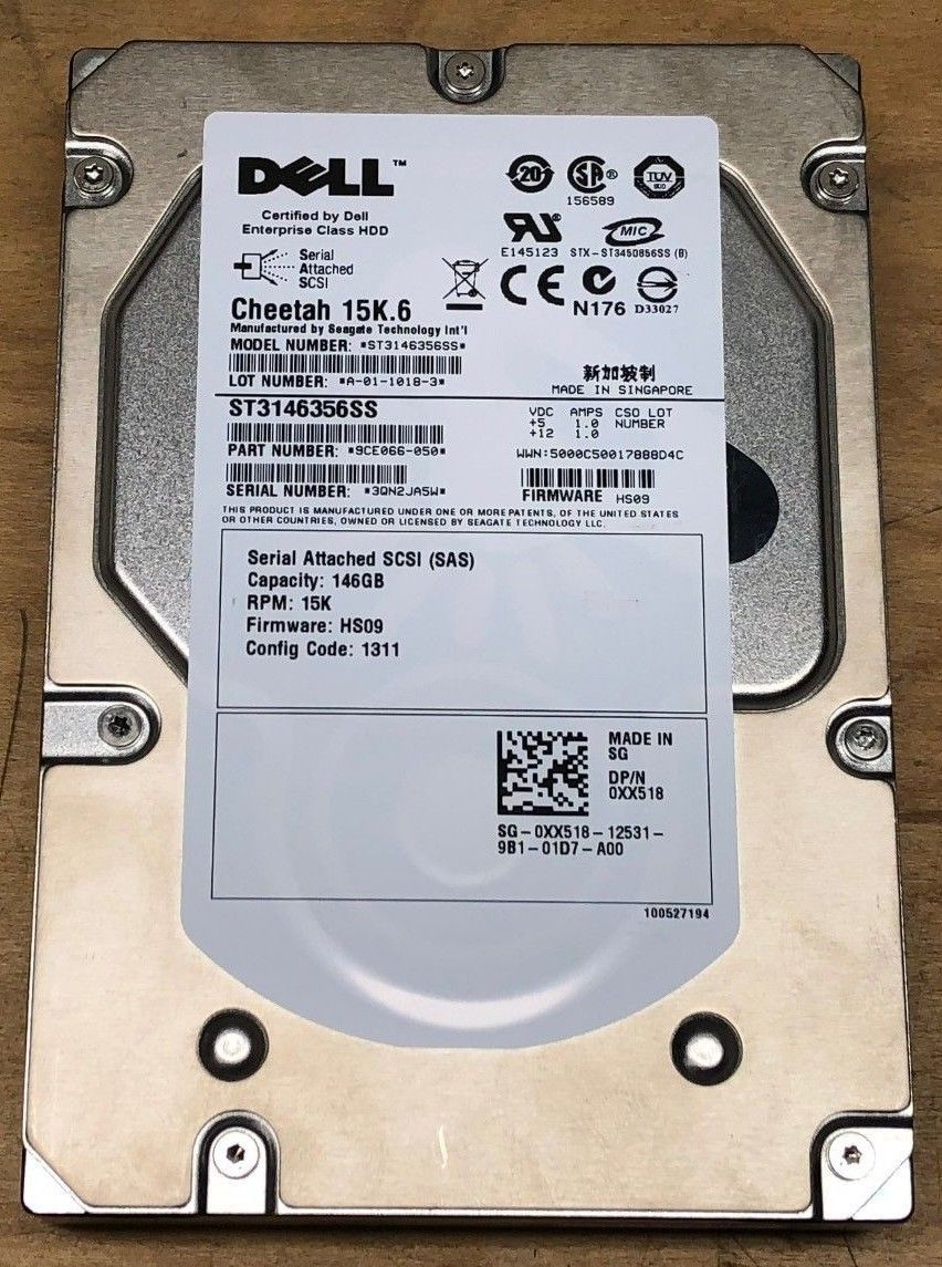 Ổ Cứng HDD SAS Dell 146GB 15K 3.5inch 9CE066-050