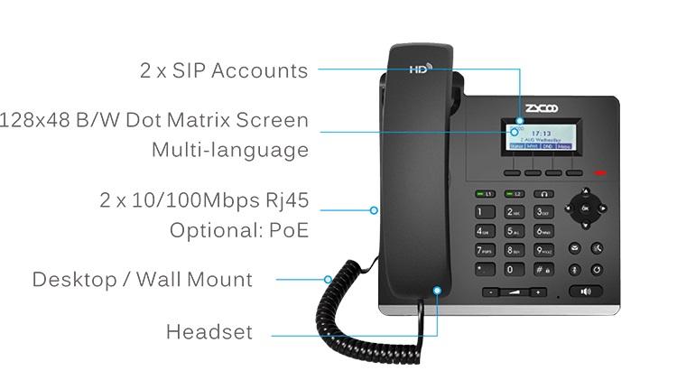 Điện thoại IP ZYCOO H81P