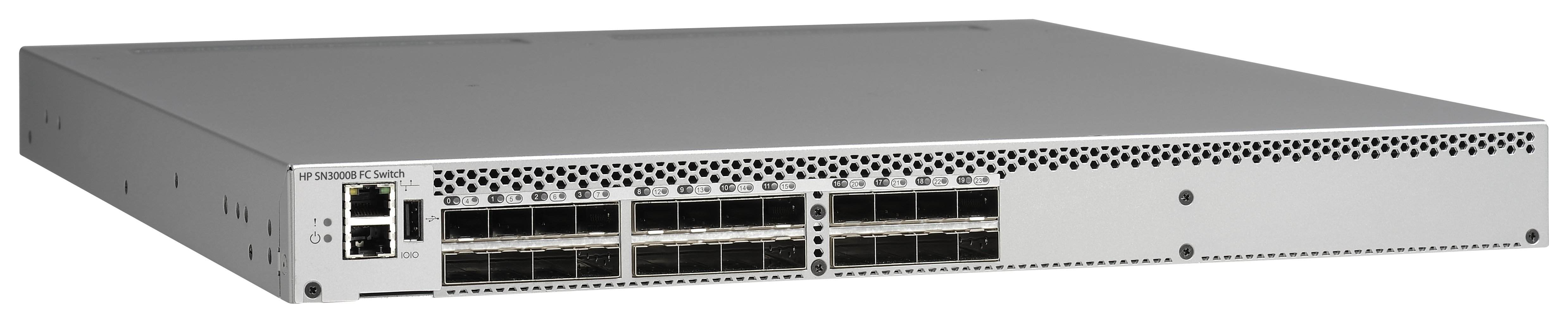 HPE SN3000B 16Gb 24-port/12-port Active Fibre Channel Switch