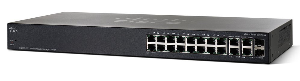 Thiết Bị Mạng Switch Cisco 20 Ports Gigabit Managed SG350-20-K9