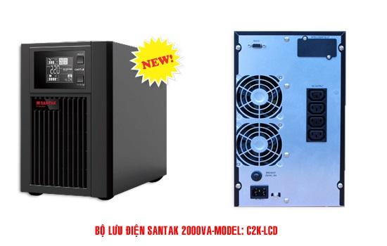 Bộ Lưu Điện UPS Santak  2KVA True Online C2K LCD