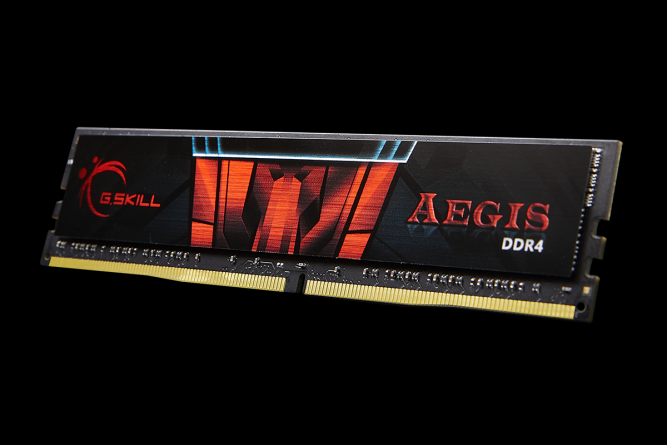 G.SKILL Aegis 16GB 288-Pin DDR4 SDRAM DDR4 2666 (PC4 21300) Desktop Memory Model F4-2666C19S-16GIS
