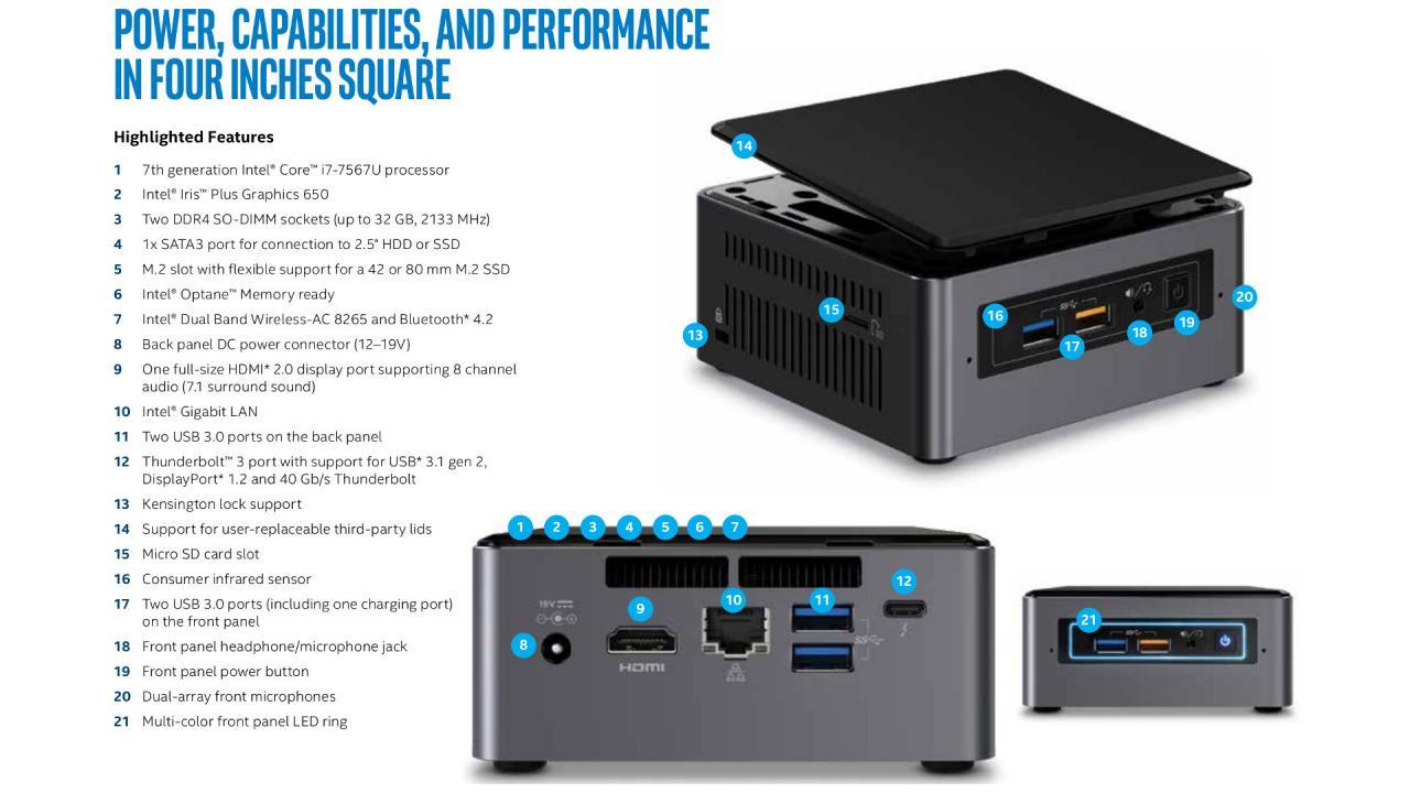 Máy tính mini Intel NUC Kit NUC7i7BNH