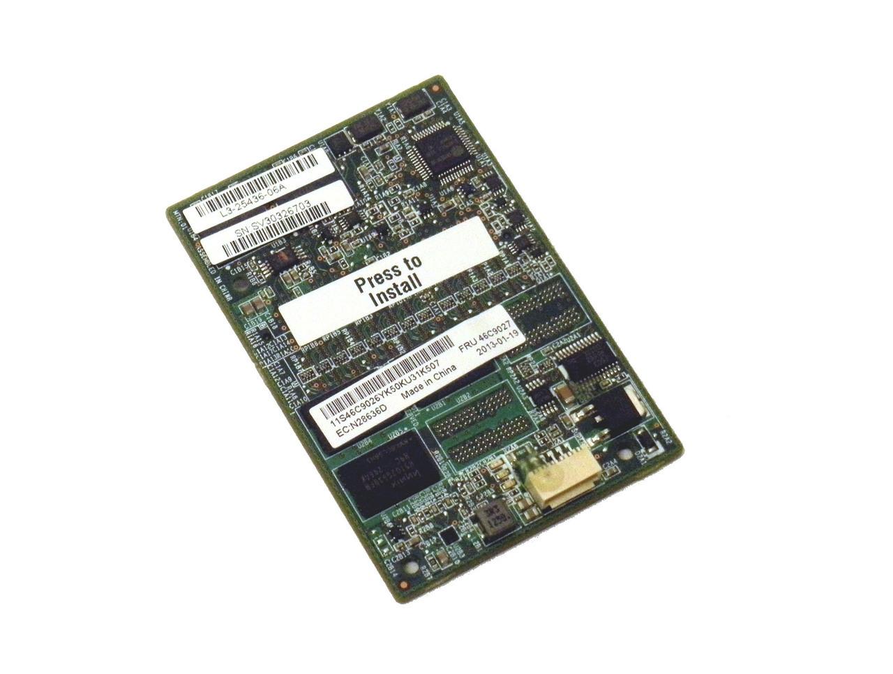 IBM 512MB MEMORY FLASH / RAID 5 FOR IBM SERVERAID M5016 / M5100 SERIES 46C9027