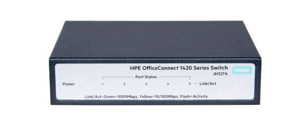 Thiết Bị Mạng Switch HPE 5 Ports Gigabit 1420 OfficeConnect JH327A
