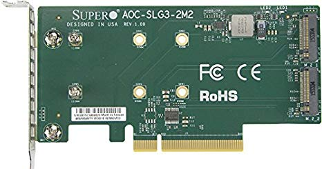 Add-on card for internal M.2 NVMe AOC-SLG3-2M2