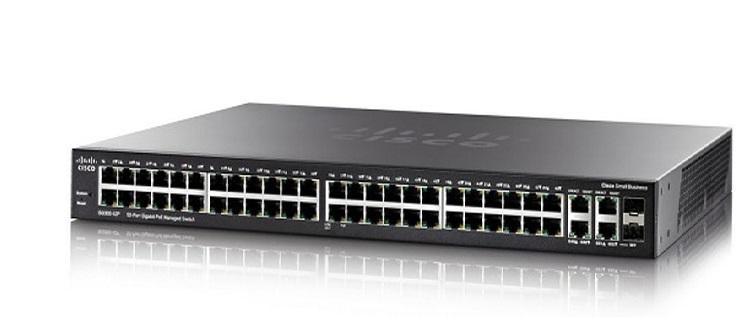Thiết Bị Mạng Switch Cisco 52 Ports Gigabit PoE Managed SG350-52P-K9