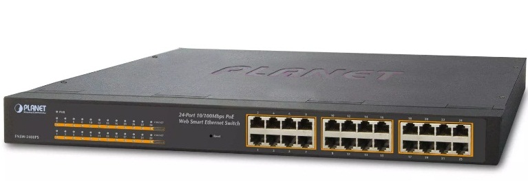 24-port 10/100Mbps PoE Switch PLANET FNSW-2400PS