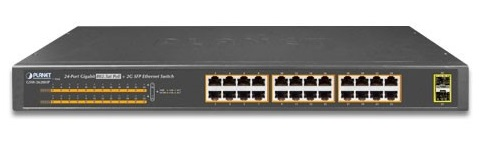 24-port 10/100/1000Mbps PoE Switch PLANET GSW-2620HP