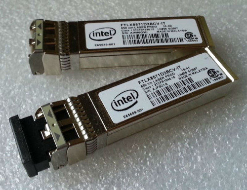 Intel FTLX8571D3BCV-IT 10G SR 850nm SFP+ Optical Transceiver Module