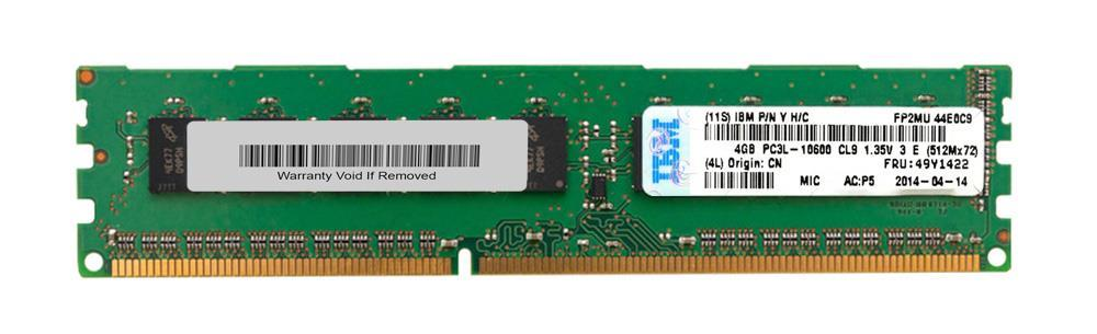 IBM 4 GB (1x 4 GB, 2Rx8) PC3-10600 CL9 ECC 1333 LP UDIMM
