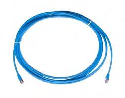 Cáp đấu nối, U/UTP, Cat.6, CM (PVC), màu xanh dương, 3m
