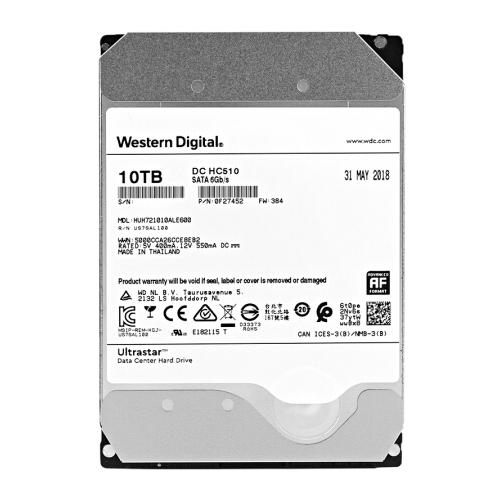 Ổ Cứng HDD Western Digital 10TB Enterprise Ultrstar DC HC510 10TB 3.5inch 256MB Cache 7200RPM SATA3