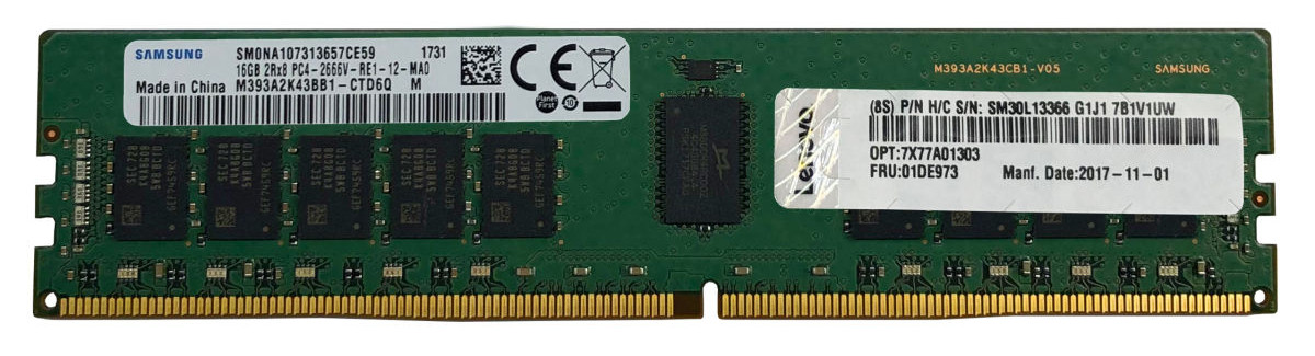 Bộ Nhớ RAM DDR4 ThinkSystem 64GB TruDDR4 2933MHz (2Rx4 1.2V) RDIMM