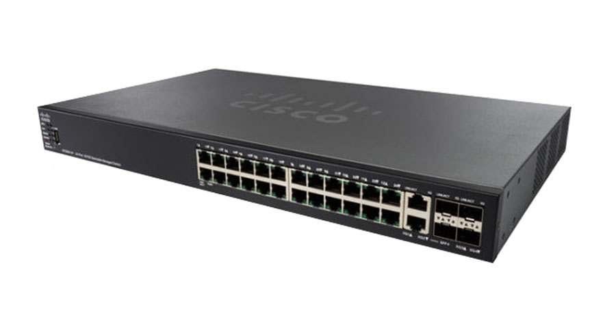24-Port 10/100 PoE Stackable Managed Switch CISCO SF550X-24P-K9-EU