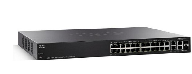 24-port 10/100 PoE+ Managed Switch CISCO SF350-24P-K9