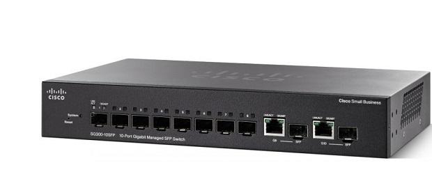 Thiết Bị Mạng Switch Cisco 10 Ports Gigabit Managed SFP SG350-10SFP-K9